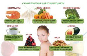 Продукты для красоты и молодости кожи